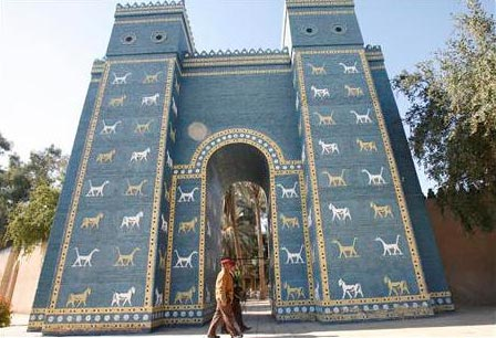 Replica of the Ishtar Gate of Ancient Babylon